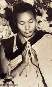 Lama Yeshe in the old gompa, 1970