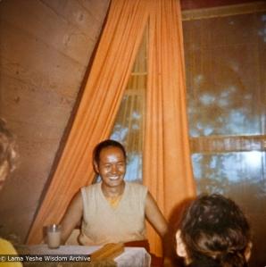 Lama Yeshe with students, 1970
