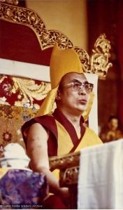 H.H. Dalai Lama, Bodhgaya, 1974