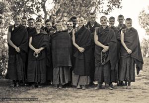 IMI monks and nuns, Kopan 1974