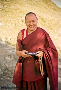 Lama Yeshe on the hill, 1975