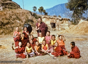 Lama with the MEC students, 1976
