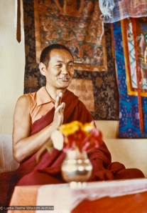Front of photo given to Connie Miller by Lama Yeshe, 1976