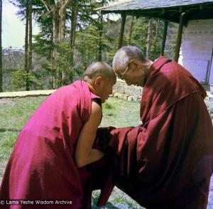 Lama and HH Trijang Rinpoche, 1976