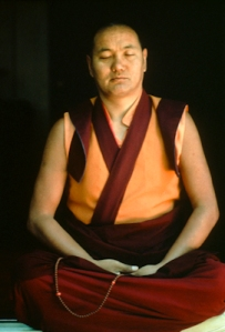 Lama meditating, Lake Arrowhead, 1975