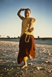 Lama Yeshe on the beach, 1975