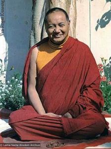 Lama at Shantiniketan, 1979