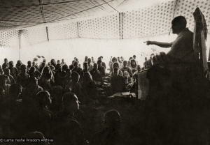 Lama teaching, Kopan, 1974