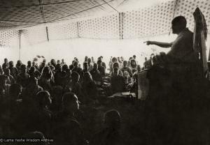 Lama teaching, Kopan, 1974