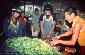 The kitchen at Kopan, 1976