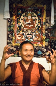 (06577_ng.JPG) Lama Yeshe teaching at Vajrapani Institute, California, 1983. Photos by Carol Royce-Wilder.