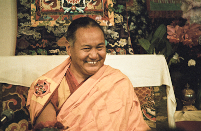 Lama teaching at VPI, 1983