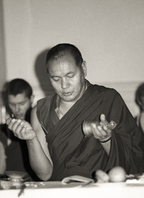 Lama teaching, MI, 1976