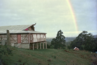 Rainbow over the gompa, 1975