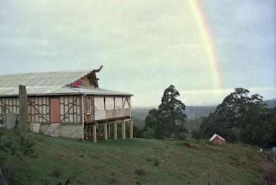 Rainbow over the gompa, 1975