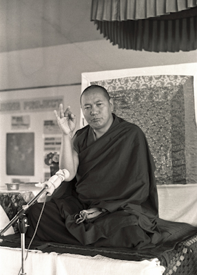 Lama teaching, CIN, 1976